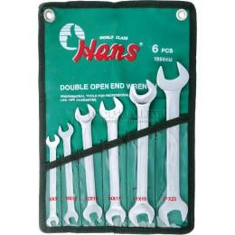Набор рожковых ключей 8-23 мм 6 предметов HANS 16596M