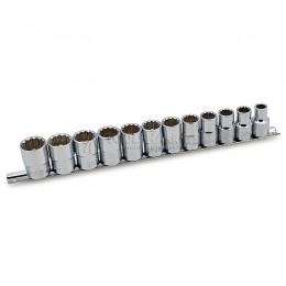 Набор 12-ти гранных торцевых головок,10-22 мм, 12 предметов HANS 4602-2M