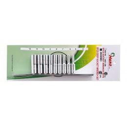 Заказать Набор 6-ти гранных головок 4-12 мм, 9 предметов HANS 2609MD отпроизводителя HANS