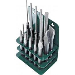 Набор слесарных инструментов, 17 предметов зубила, выколотки, керн HANS 56110-17M