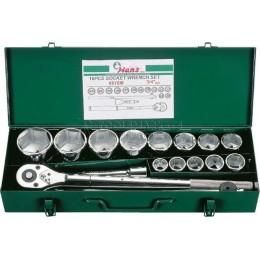 """Набор инструментов на 3/4"""", 16 предметов HANS 6616M"""