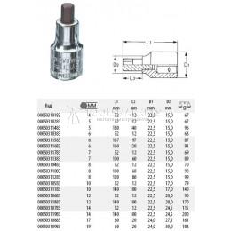 Отвёрточная насадка 8 мм для винтов с внутренним шестигранником HEYCO HE-00050310483