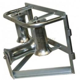 Угловой горизонтальный кабельный ролик для кабеля max Ø 140мм (сталь) KATIMEX KM-105051
