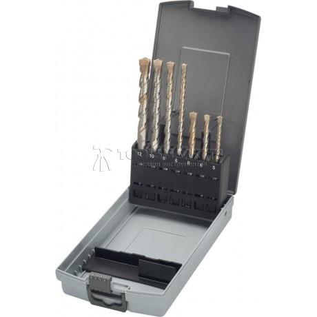 Набор буров SDS-plus TURBOKEIL 5,6,8,10х110х50/6,8,10х160х100/12х165х100 мм 7 предметов KEIL 1253500512
