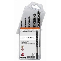 Заказать Набор спиральных сверл по дереву 4.0-10.0 мм, мягкая упаковка 5 предметов KEIL 180350410 отпроизводителя KEIL