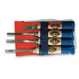 Заказать Haбop cтaмecoк и нoжeй для peзьбы пo дepeву 4 предмета KIRSCHEN KR-3424000 отпроизводителя KIRSCHEN