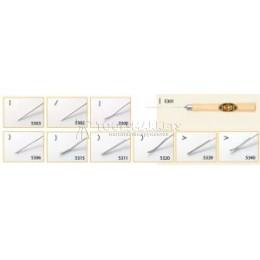 Заказать Микрорезец желобчатый с V-образным лезвием 170х15 мм с восьмигранной рукояткой из граба KIRSCHEN KR-5340000 отпроизводителя KIRSCHEN