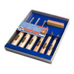 Набор инструментов для резьбы по дереву в картонной коробке 7 предметов KIRSCHEN KR-3427000