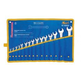 Заказать Набор комбинированных ключей 15 предметов, 6-17, 19, 22, 24 мм в сумке KRAFT KT 700555 отпроизводителя KRAFT