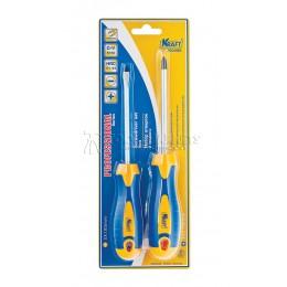 Заказать Набор отверток 2 предмета, Cr-V, двухкомпонетная рукоятка KRAFT KT 700400 отпроизводителя KRAFT
