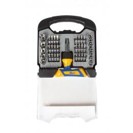 Заказать Набор Т-образная реверсивная отверка с насадками-битами и торцевыми головками 38 предметов KRAFT KT 701041 отпроизводителя KRAFT