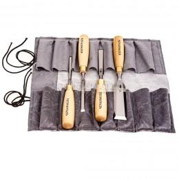 Заказать Набор стамесок прямая РК, 4 предмета, в сумке-скрутке 8-32 мм ПЕТРОГРАДЪ М00012814 отпроизводителя ПЕТРОГРАДЪ