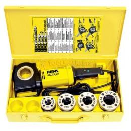 """Заказать Электрический клупп REMS Амиго набор R 1/2""""-3/4""""-1""""-1.1/4"""" в стальном чемодане REMS 530020 отпроизводителя REMS"""