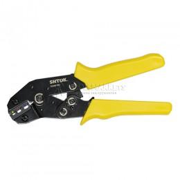 Пресс-клещи для опрессовки кабельных наконечников (овал) 0.25-2.5 кв.мм SHTOK 03201