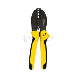 Пресс-клещи для опрессовки изолированных втулочных наконечников (трапеция) 10-35 кв.мм SHTOK 03303