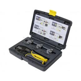 Заказать Набор в пластиковом кейсе из пресс-клещей 220 мм и 4 быстросменные матрицы ПК-22БМ+, 4 предмета SHTOK 03502 отпроизводителя SHTOK