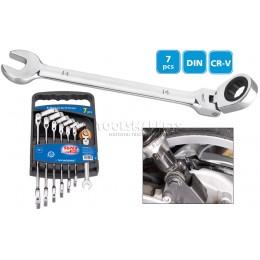 Набор комбинированных рожково-накидных ключей 7 предметов SUPER-EGO SEH001400