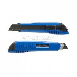 Нож LC-500 18 мм с автофиксацией лезвия цвет синий 3 лезвия в наборе TAJIMA LC500