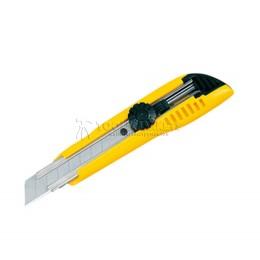 Нож LC-500 18 мм с винтовым стопором цвет желтый 3 лезвия в наборе TAJIMA LC501