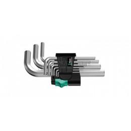 Заказать Набор Г-образных шестигранных ключей, метрических, хромированных 9 предметов 950/9 SM N WERA WE 021406 отпроизводителя WERA