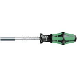 Заказать Ручка-битодержатель со стопорным кольцом 810/1, 1/4 дюйм x 120 mm, матовый никель WERA WE-051005 отпроизводителя WERA