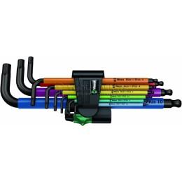 Набор Г-образных шестигранных ключей метрических 9 предметов BlackLaser 950 SPKL/9 SM N WERA WE-073593