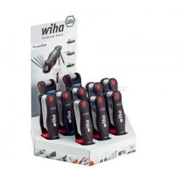 Дисплей с наборами ключей PocketStar смешанной комплектации 10 предметов Wiha 25297