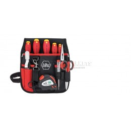 Набор электрика в поясной сумке 10 предметов Wiha 33155