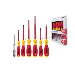 Набор отверток SoftFinish electric SL/PН с пробником напряжения 7 предметов Wiha 00834