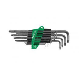 Набор шестигранных штифтовых ключей со сферической головкой TORX ProStar MagicSpring 366R SZ13, 13 предметов Wiha 31492