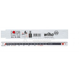 Заказать Складной метр Longlife All in One 2м 10 звеньев белый Wiha 33232 отпроизводителя WIHA