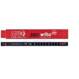 Складной метр Longlife Plus Composite 2 m 10 звеньев серый/белый Wiha 37309