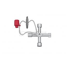 Заказать Ключ для электрошкафов Elektro в форме креста Wiha 36114 отпроизводителя WIHA