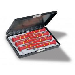 Набор прецизионных отверток WITTRON VDE для винтов шлицем и Phillips, 7 предметов WITTE 89367